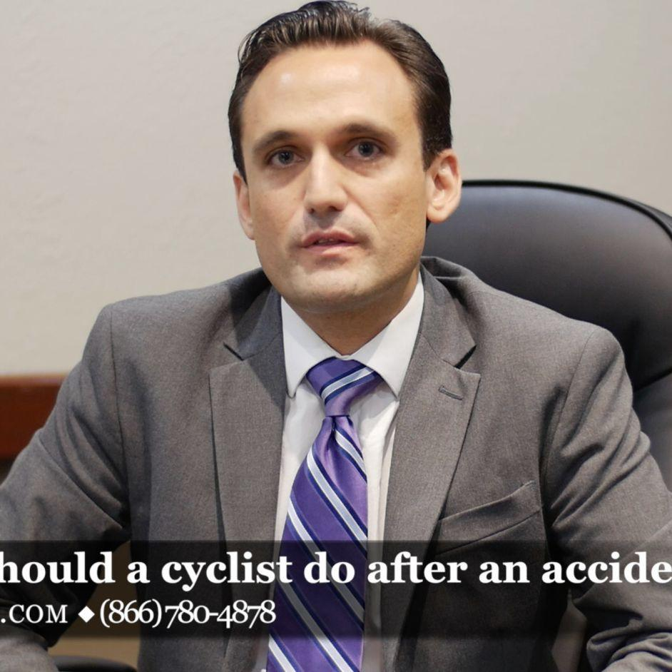 What should a cyclist do after a bicycle accident?